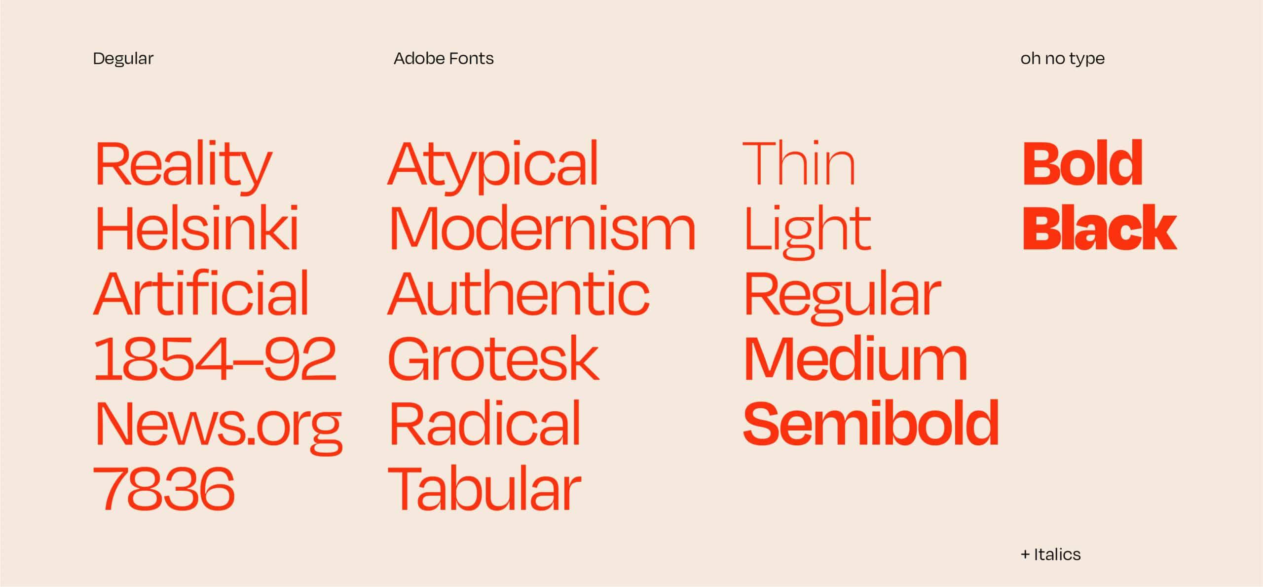 Top Adobe Fonts Degular