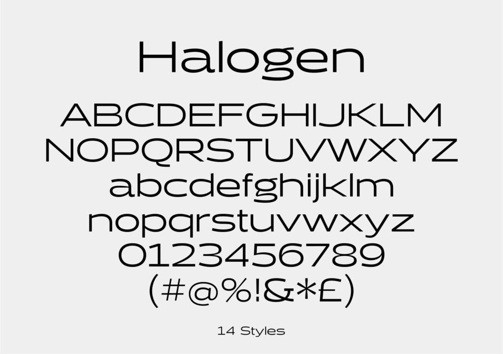 Top Adobe Fonts Halogen