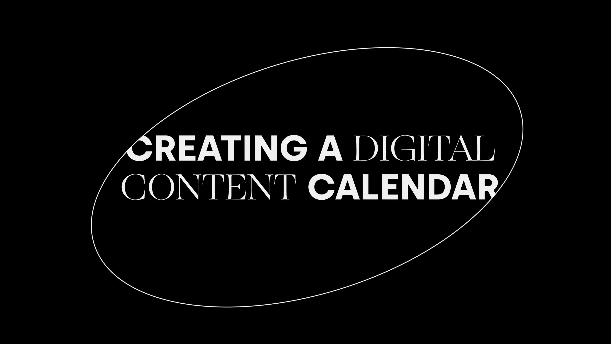 Creating a Digital Content Calendar banner